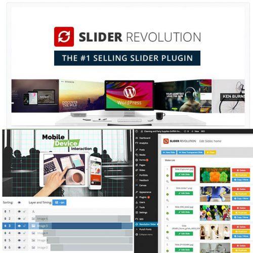 افزونه اسلایدر وردپرس Revolution Slider